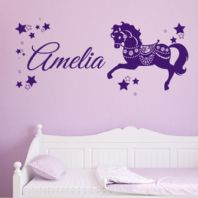 Personalised Children's Horse Pony Name Wall Sticker Decal
